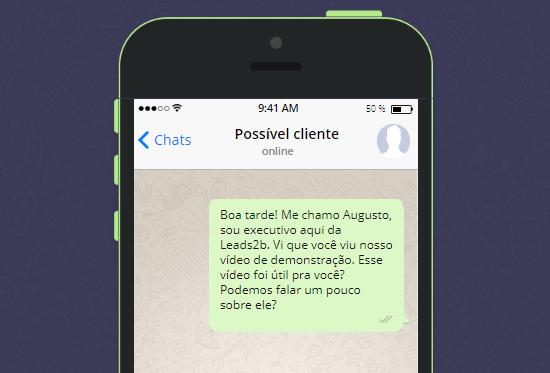 exemplo de abordagem de vendas pelo WhatsApp para estratégia inbound