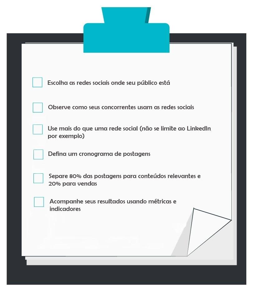 Com esse checklist você tem tudo o que precisa para começar a vender nas redes sociais