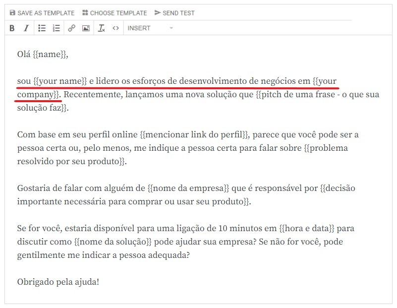Exemplo de briefing do cold mail