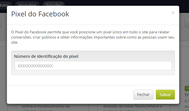 Configurando o pixel para remarketing no Facebook