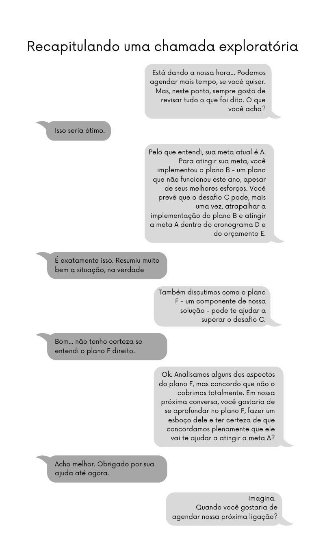A escuta ativa também é útil para repassar os pontos abordados em uma conversa antes de agendar os próximos passos