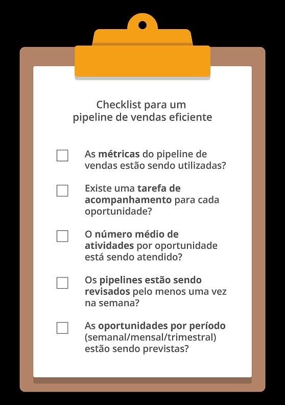 Checklist para um pipeline de vendas assertivo