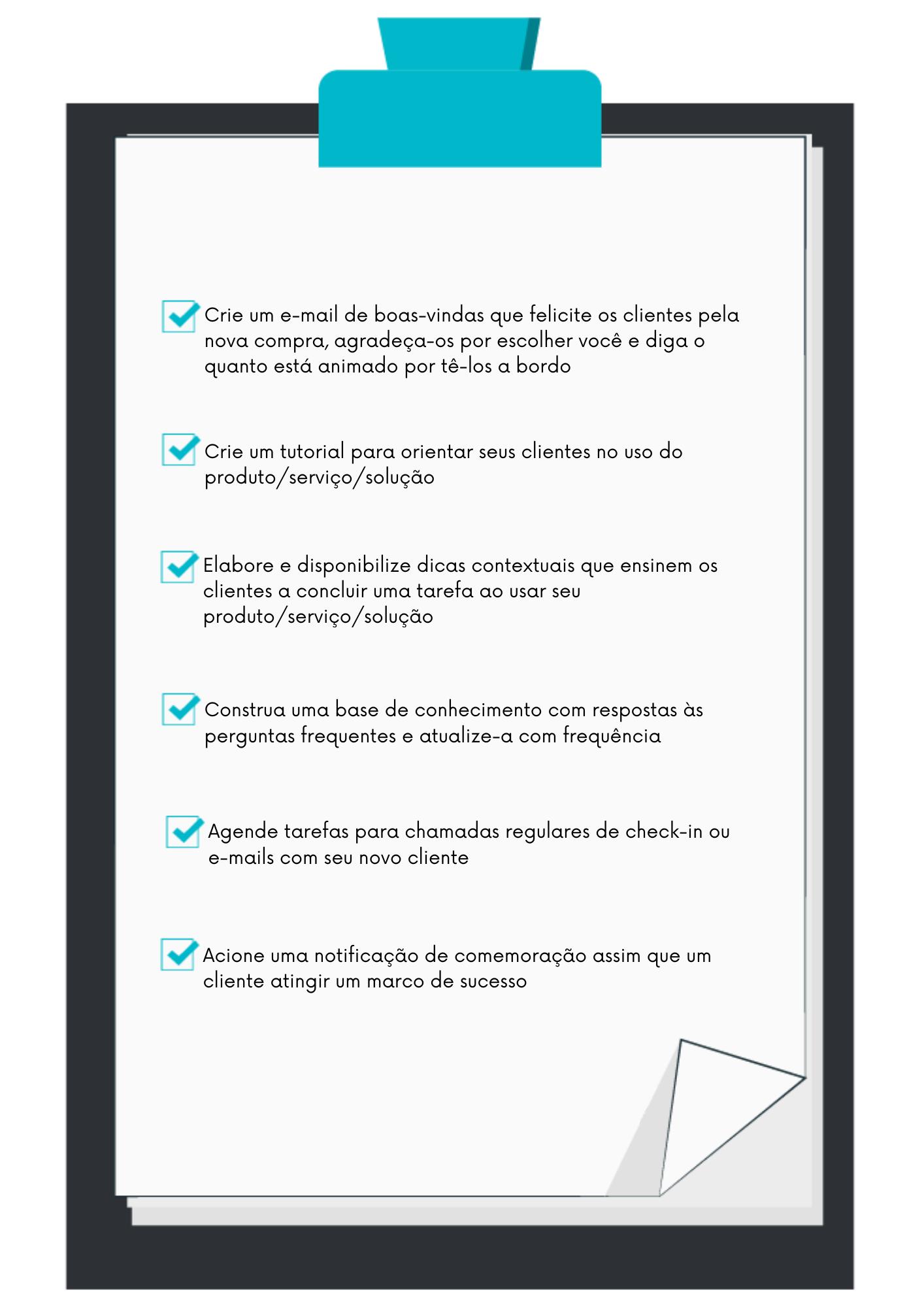 Checklist de ações para um onboarding eficiente