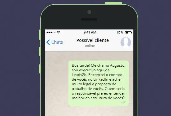 Exemplo de abordagem de leads através do WhatsApp