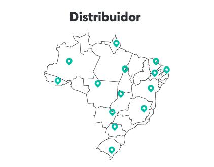 Distribuidores fornecem produtos direto ao consumidor em regiões específicas, ampliando o alcance dos seus produtos