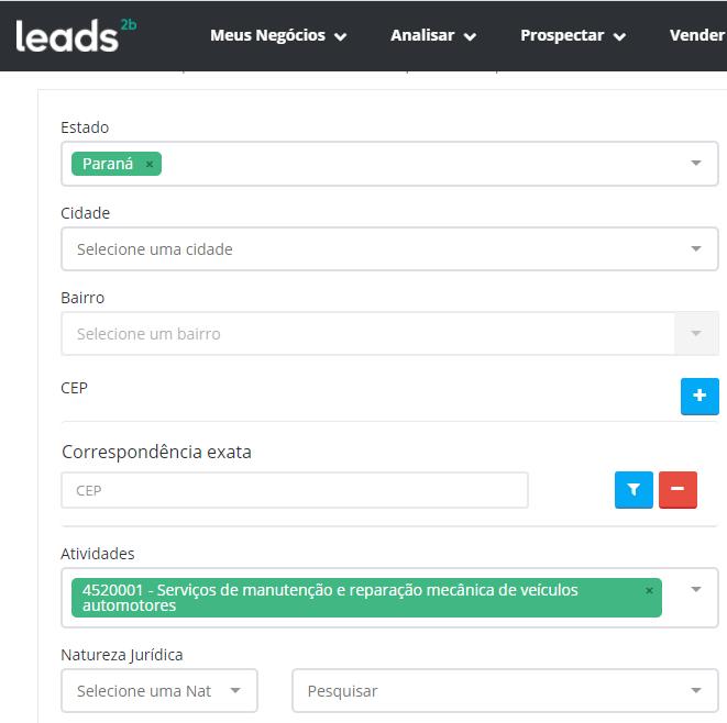 Rastreie a concorrência e descubra as melhores regiões para atuar com Leads2b